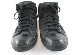 Converse All Star Sneakers Shoes High Top Black Textile Unisex Men's 10