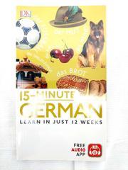 DK 15-minute German Book Learn in Just 12 Weeks! New in Wrap