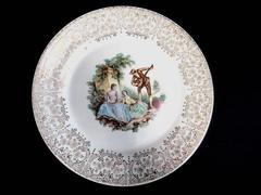 Vintage Triumph American Limoges Dinner Plate China DO'R I T-S 284 22K Gold Trim