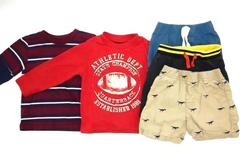 Lot of 5 Toddler Boy's Clothes Size 2T Shorts Shirts Long Sleeve Dinosaurs