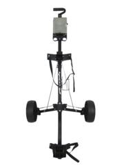 Bag Boy Lite Push Golf Bag Cart Folding Metal Caddy Plastic Wheels Tee Peg