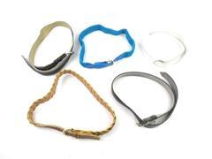 Lot of 5 Women's Belts Vintage Fashion Belts Brown Blue Black Faux Leather