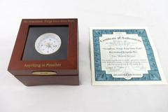 Bradford Exchange Musical Trinket Box & Compass Grandson Forge Your Own Path