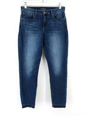 Lucky Brand Ava Crop Raw Hem Jeans Dark Wash Indigo Denim Women's Sz 6/28