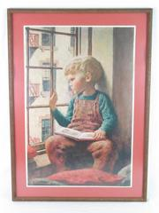 """Vintage James Chapin The Picture Book Framed Art Print 1946 Rare 32.5"""" x 24"""""""