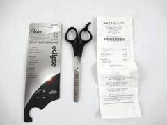 Oster Professional Scissors Texturizing Shears Hair 15 Teeth Silver Black