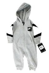 Nike Air Baby Hoodie Jumpsuit Dark Gray Heather Sweatshirt Zip Bodysuit 6M