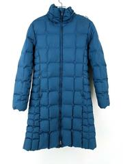 PATAGONIA Down With It Quilted Parka Jacket Glass Blue Hooded 28438 Women's S