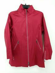 MYCRA PAC ONE Gabby Rain Jacket Red Metallic Stretch Hooded Size 1-S/M