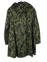 MYCRA PAC NOW Reversible Short Windsor Rain Jacket Green Filigree Hood Sz 0-1-2