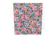 Photo Album Retro Vintage 70's Floral 3 Ring Binder Style With Adhesive Pages
