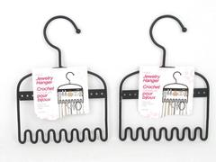 Lot of 2 Greenbrier International Jewelry Hangers Wrought Iron Black  Mini