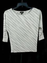 Bebe Top Quarter Dolman Sleeve Metallic Sparkle Stripes 90s Y2K Women's Small