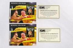 Sierra Leone Unused 2 Rocky III Stallone Boxing on Film Sheetlet MNH with COA's