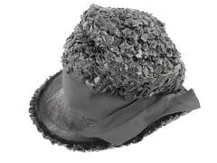 Vintage Robby Ann Creations Hat Black Women's Fedora Hat