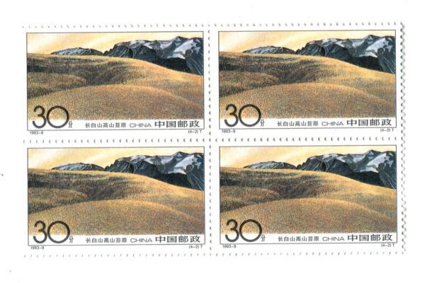 1993-9 China 4 Blocks of 4 Unused Changbai Mountain Set MNH