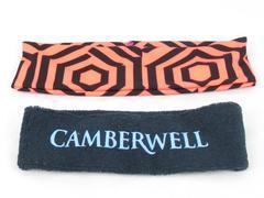 Lot of 2 Running Activewear Headbands Camberwell Geometric Pattern Terry Cloth