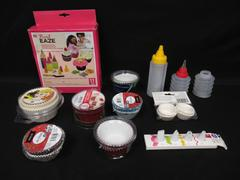 Lot of Baking Accessories Cupcake Pan Liners Cups Frosting Tips Bottle Wilton