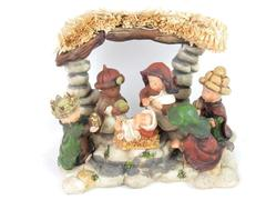 Sierra Pacific Crafts Ceramic Nativity Figurine Table Decor Hand Painted