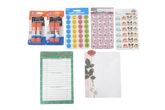 Lot of School Craft Supplies Elmers Glue Disney Hello Kitty Stickers Planner CTP