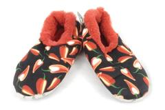Unisex Snoozies Red Chili Peppers Slippers Size Medium 7/8 With Tag