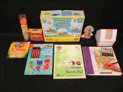 Lot of Kids Craft Items Coloring Book PlayDoh Crayons Markers and More
