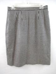 Doncaster Skirt Black White Houndstooth Pattern 100% Silk Lined Women's Size 8