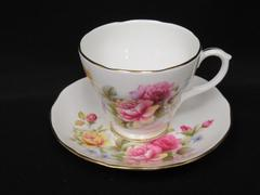 Vintage Duchess Bone China Cup And Saucer Set 347 White Gold Gild Roses