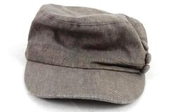 D&Y Elastic Fit Cadet Style Hat Women's One Size Fits Most Brown Buttons