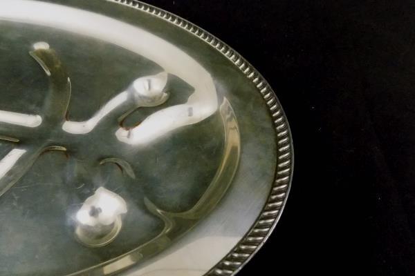 P.S.C.O. Silver Plate On Copper Fowl Tray Tree Design
