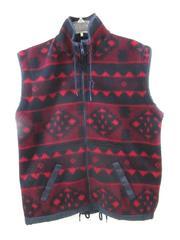 Greatoutdoors By Block Vest Navy Blue Red Fleece Pockets Men's Size M
