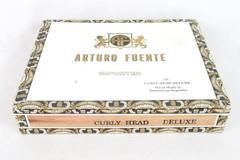Vintage Arturo Fuente Imported Cigars Curly Head Deluxe Empty Box