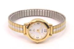 Vintage Carriage By Timex Watch Quarts 30M Gold & Silver Toned