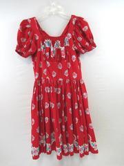 Vintage Dress Handmade Square Dance Multi Color Floral Design Women's Sz Unknown