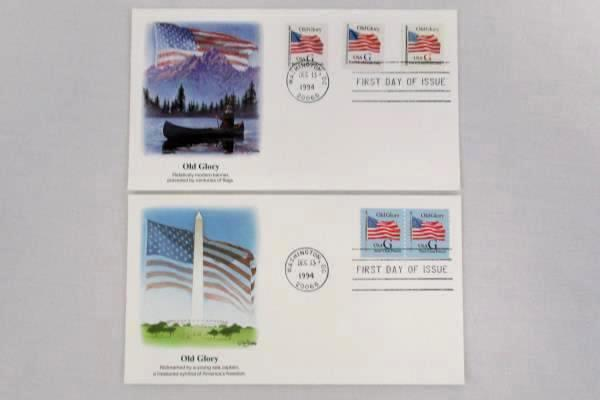 Lot of 8 FDC / FDI December 13, 1994 Official Mail United States