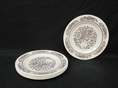 """Lot of 4 Vintage Cavalier Ironstone Dinner Plates By Royal China USA 10"""""""