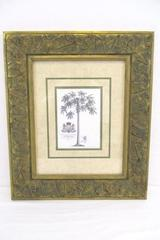 Ornate Framed Prince of Helse Botanical Print by G.D. Ehret Art Wall Decor Hang
