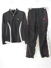Lot of 2 Women's Track Suit Reebok Top Spalding Pants Black Pink White Women's M