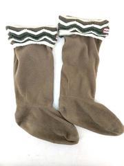 HUNTER Fleece Welly Boot Liners in Zig Zag Brown Beige Women's 5-7 US