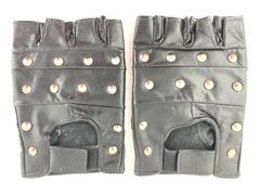 Unbranded Leather Gloves Motorcycle Black Silver-Toned Studs Men's Size XXL