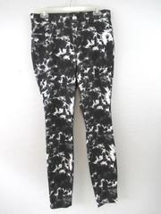 Time And Tru Jeggings Pants High Rise Stretch Black White Women's  LG 12-14 NWT