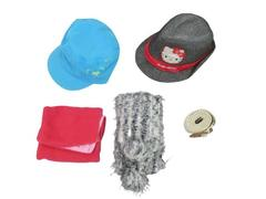 Lot of 5 Girl's Items Hats Belt Scarf Hello Kitty Great Northwest Three Cheers