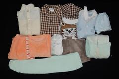 Lot of Vintage Baby Toddler Clothes Various Sizes Jeans Tops Outfits