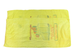 Lot of 2 Vintage Seed Bags Farmers Union Grans & Supply Co Select Yellow Large