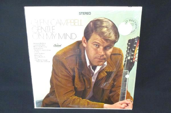 Lot of 2 Glen Campbell Vinyl LP Gentle On My Mind & A Satisfied Mind