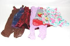 Lot of 7 Baby Girl Dresses Rompers Jumpsuits Size 12M Carters Katie M One Piece