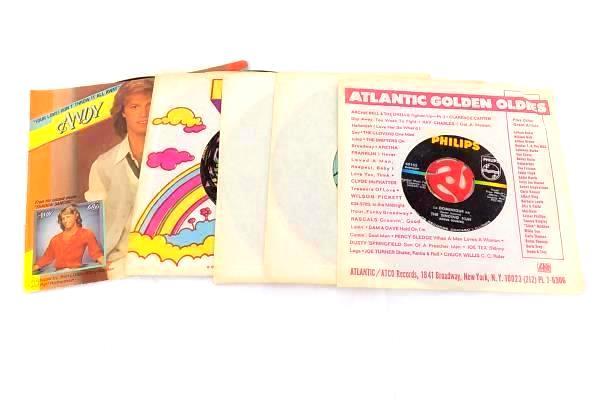 Lot of 5 Original 45's Gibb, Tillotson, New Vaudeville Band, Davis, Singing Nun