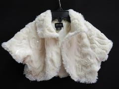 Holiday Editions Shrug Sweater Faux Fur Sequins Toddlers Girl Size XS 4/5