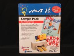 Vtg Invent It The Print Shop 10.0 Sample Pack Stickers Banner Posters Envelopes