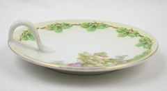 Vintage Porcelain Nappy Grape Design Dressing Table Plate Victorian